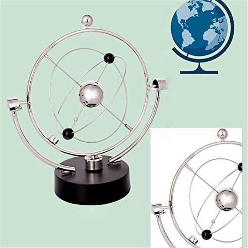 AMITD Perpetual Motion Instrument, Newtons Pendel Globus Celestial Orbital Permanent Kreative Physik Wissenschaft Und Bildung Rotation Heimtextilien Desktop-Spielzeug Weltkugel