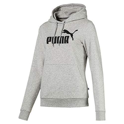 PUMA Damen ESS Logo Hoody TR Pullover, Light Gray Heather, M