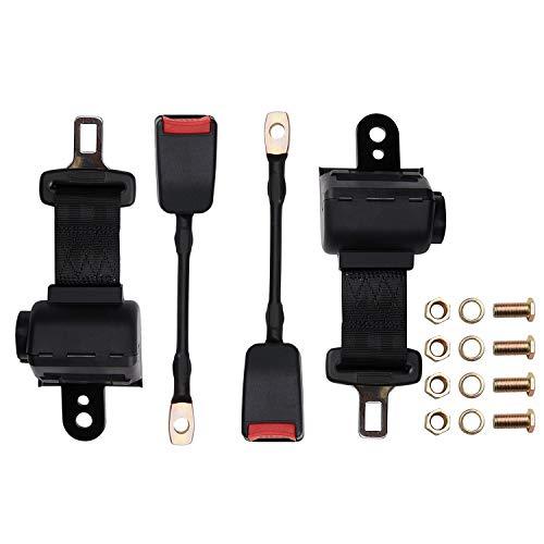 TOYI Retractable Golf Cart Seat Belts Kit for EZGO, Yamaha, Club Car, Go Kart, UTV, Buggies and Bus - Set of 2 - Keep...