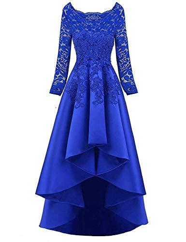 Abendkleider Elegant Lang Ballkleider Brautkleider Vintag A-Linie Cocktail Partykleider Tanzball Festkleider Hochzeitskleider Königsblau56