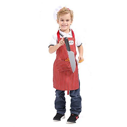 Avsvcb Cosplay Disfraz de Navidad para niños, Disfraz de Carnicero para niña, Disfraz de Halloween, Novedad, Regalo, Disfraz de casa para niños