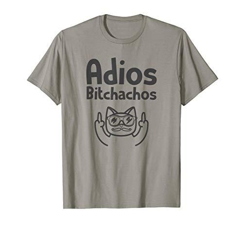 Adios Bitchachos Tshirt Cinco De Mayo Cat Middle Finger T-Shirt