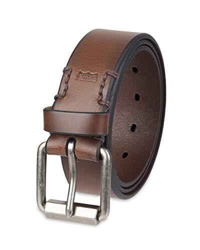 "Levi's Men's 1.3"" Wide Black Belt with Roller Buckle"