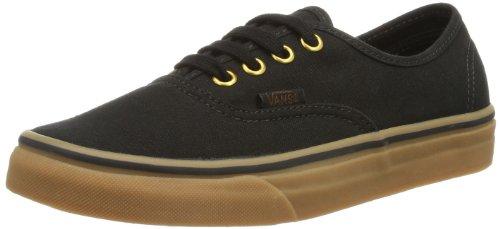 Vans Unisex Authentic Black/Rubber Skate Shoe 8.5 Men US / 10 Women US
