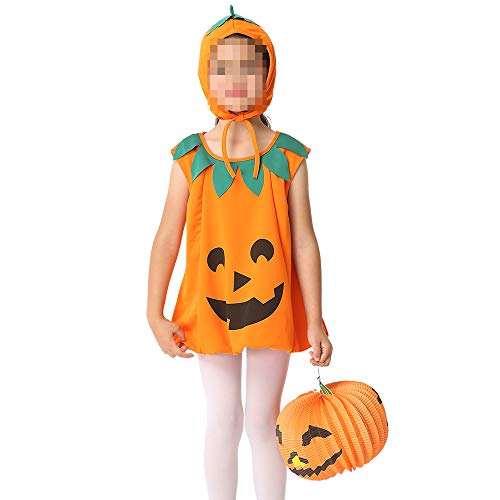 kMOoz Cosplay kostuum, halloween Outfit,kids Halloween Heks Fancy Adress Kostuum Cosplay Halloween Feest, Kinder Jurk Rok Set Cosplay Kinderjurk Pompoen Jurk L