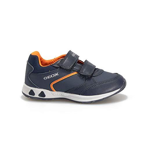 Geox B041RA Kinderschuhe mit blauem Absatz, - Navy orange - Größe: 27 EU