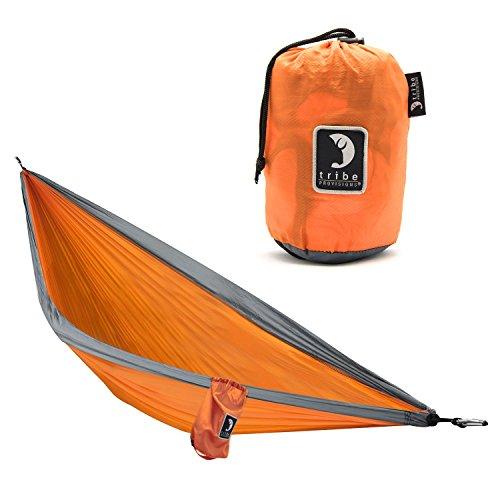 Tribe Provisions Single Person Hammock (Orange, Ripstop Nylon)