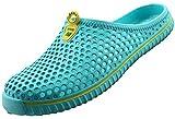 SAGUARO Unisex Zapatillas de Playa Ahueca hacia Fuera Las Jardín Sandalias Zuecos Verano Antideslizante Ligeros Respirable,Etiqueta 41=40 EU Azul