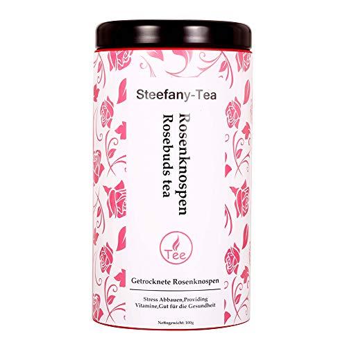 Rose Tee, Rosenblüten, Rosenknospen Tee, Rosebuds Tea, Getrocknete Rosenknospen, Providing Vitamine, Gut für die Gesundheit (100g)