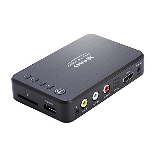 Lazmin Reproductor Multimedia HDD 3D, Measy A1HD Reproductor Multimedia HDD 3D Full HD 1080P Reproductor MKV H.264 HDMI USB Host SD
