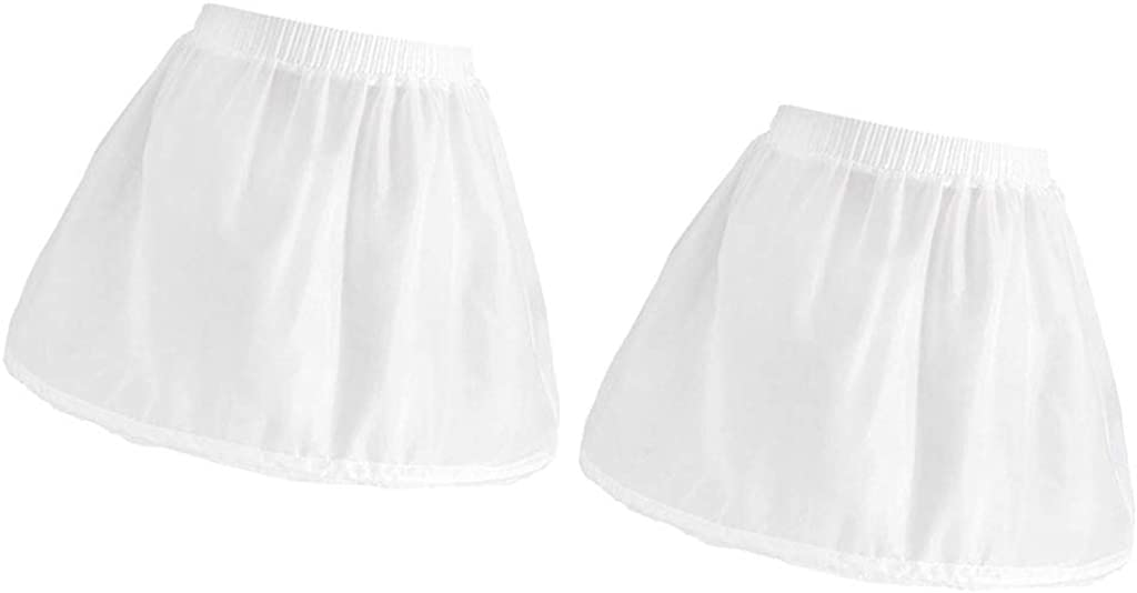 Harilla 2pack Single Hoop Puffy Petticoat Princess Elastic Underskirt Crinoline