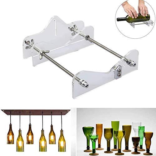 Glasschneider für Flaschen, Edelstahl Flaschenschneider Verstellbares Rad Glasschneider Bottle Cutter Kit zur DIY Kronleuchter aus Glas Kerzenständer