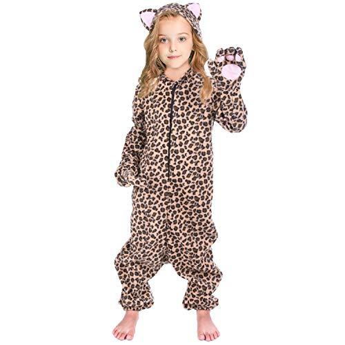 Kids Cheetah Pajamas Onesie Leopard Costume for Boys Girls Animals...