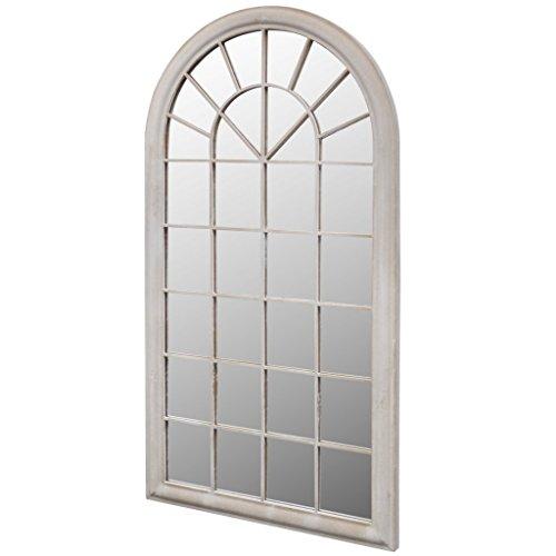 Anself Gartenspiegel 60 x 3 x 116 cm für den Innen- und Außenbereich Weiß