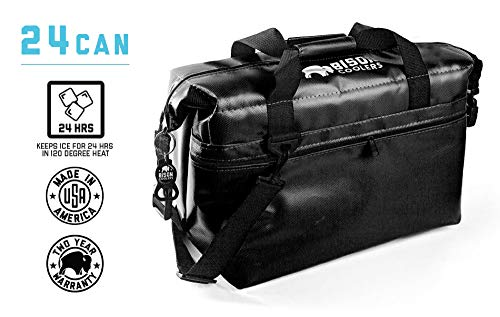 BISON COOLERS 24 Can Insulated Ice Chest Bag for Beer, Soda,...