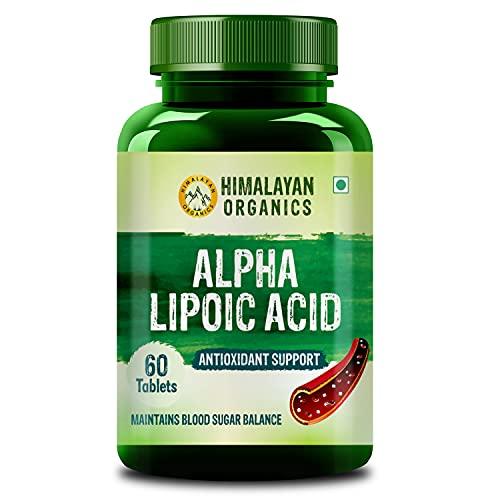 Himalayan Organics Alpha Lipoic Acid 300mg   Boost Liver Function, Healthy Blood Sugar, Antioxidant   60 Veg Tablets