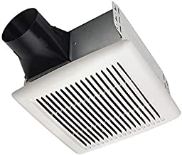 Broan-Nutone AE80B InVent Series Single-Speed Fan, Ceiling Room-Side Installation Bathroom Exhaust Fan, ENERGY STAR Certified, 1.5 Sones, 80 CFM