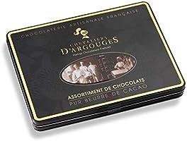 Chevaliers d'Argouges - Assortiment de chocolats noir, lait, blanc - Coffret cadeau prestige - 300g