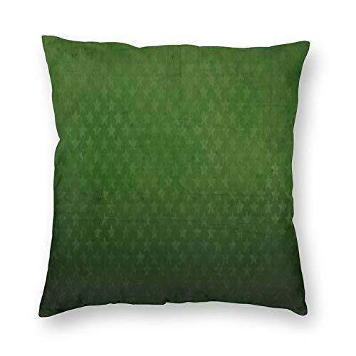 FULIYA Fundas de cojín de 45 x 45 cm, funda de almohada de poliéster suave cuadrada para sala de estar, sofá cama, juego de 1, textura, patrón, estrellas, lunares