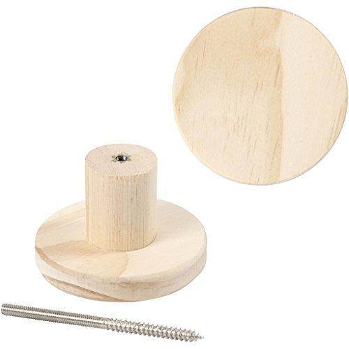 Kapstok, rond, d: 7 cm, diepte 4,5 cm, grenen, 1stuk