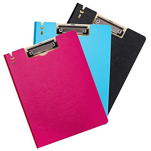 regendag A4 Klembord Folder,3 Stks Vouwen A4 Foldover Clipboards, Map Klembord met Cover voor Office/School Papier Bestand Opslag en Organiseren, Conferentie