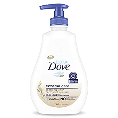 Baby Dove Soothing Wash To Soothe Delicate Baby Skin Eczema Care Washes Away Bacteria, No Artificial Perfume or Color, Paraben Free, Phthalate Free 13 oz from Unilever