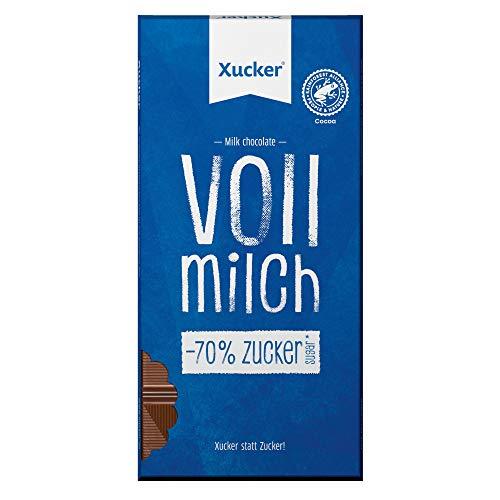 Xucker | 10 Tafeln Vollmilch Schokolade | Xylit - Xylitol | ohne zugesetzten Zucker | Sparpack 10x 80g