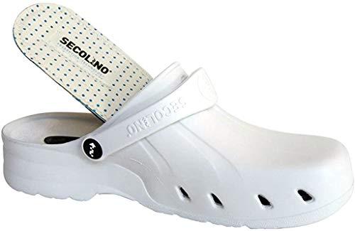 Zuecos Sanitarios Secolino Clog Shoe (39, Blanco)