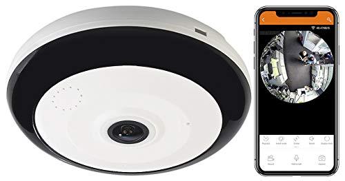 7links Rauchmelder Kamera: 360°-Panorama-Überwachungskamera mit 3,7 MP, Nachtsicht, WLAN & App (Rauchmelder mit Kamera WLAN)