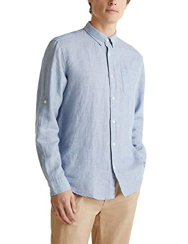 ESPRIT Herren 030EE2F306 Hemd, 444/LIGHT Blue 5, L