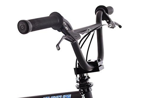 KS Cycling BMX Freestyle Daemon Fahrrad, schwarz-Blau, 20 - 5