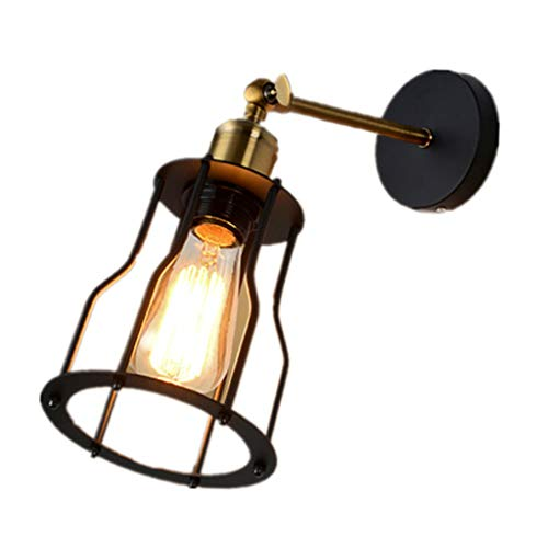 LOVIVER Vintage lámpara de Pared Industrial Retro lámparas de Pared Dormitorio Creativo iluminación de Pared Interior de una Sola Cabeza de Metal LED lámpara