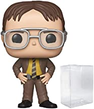 Funko TV: The Office - Dwight Schrute Pop! Vinyl Figure (Includes Compatible Pop Box Protector Case)