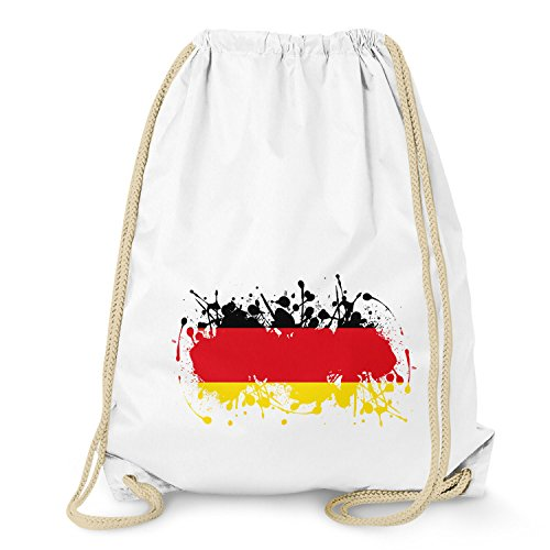 Texlab Splash Deutschland - Turnbeutel, weiß