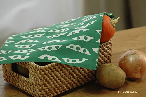 注染手ぬぐいてぬぐいえだまめおつまみ日本製約34×90cm綿100%総理生地キッチン(枝豆グリーン)