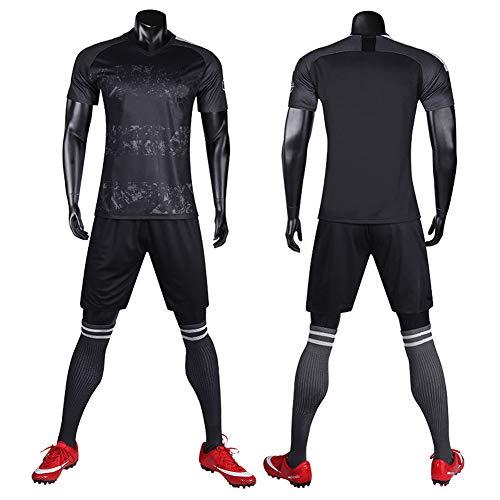 WQJIE Trainingspak jersey voetbalpak, korte mouwen sportkleding pak, mannen, running T-shirt Retro X-Large Kleur
