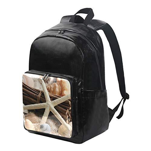 FAJRO Strand-Sand-Testern-Reiserucksack aus Segeltuch mit Reißverschluss für Büro / Schule