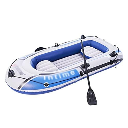 WBJLG Bote Inflable, Kayaks de Turismo para 4 Personas, Bote de Goma para Pesca, balsa portátil con remos, para Nadar en la Playa, Piscina