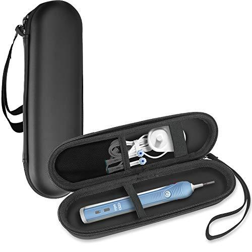 ProCase Hülle für Oral-B Zahnbürste Hartschalenkoffer Philips Elektrische Zahnbürste Eva Reiseetui Trage Tasche, Elektrischer Zahnbürstenhalter Behälter Travel case –Schwarz