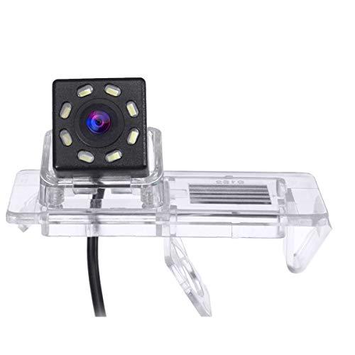 Kuinayouyi CáMara de VisióN Trasera de Coche de 8 LED, CáMara de Marcha AtráS de 170 Grados con Cable Adaptador de 24 Pines para Clio 4 IV 2012-2019