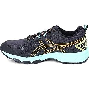 ASICS Women's Gel-Venture 7 Trail Running Shoes, 6.5W, Black/Orange POP