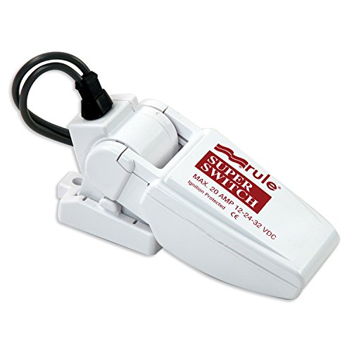 Rule 37A SuperSwitch Bilge Float Switch, Moisture Tight Seals, 12, 24 or 32 Volt , White