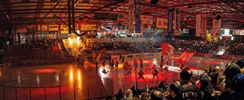 Blue-Letter Crimmitschau Eishockey Intro – hochwertiger FineArtPrint (120 cm x 50 cm)