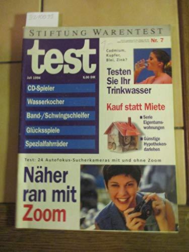 Stiftung Warentest Heft 7 / 1994: CD-Spieler, Wasserkocher, Band-/Schwingschleifer, Glücksspiele, Spezialfahrräder