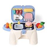 Gazaar Juego de cocina para niños, juguetes de cocina, accesorios de cocina, juguetes de juego de simulación, regalo de aprendizaje para niñas y niños