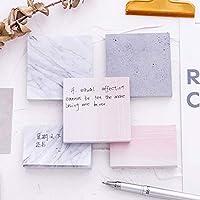 6 ピース/ロットクリエイティブ 大理石色自己粘着 メモパッド 石 スタイル 付箋 ブックマーク 学校 オフィス 文具 サプライ