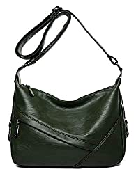 A medium size shoulder bag made of soft Pu leather