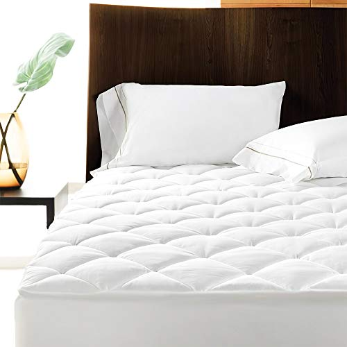 Linens Limited Polycotton Quilted Mattress Protector, Extra Deep, Doubl