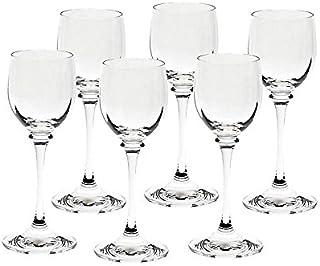CRISTALICA Likörglas 6er-Set Condor Optik 70ml Schnapsglas Likörkelch Wodka Bleikristall