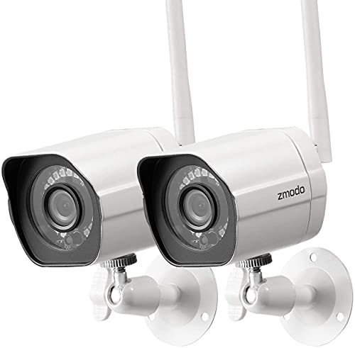 2021 Updated Zmodo Outdoor Surveillance Camera (2-Pack), 1080p Full HD...